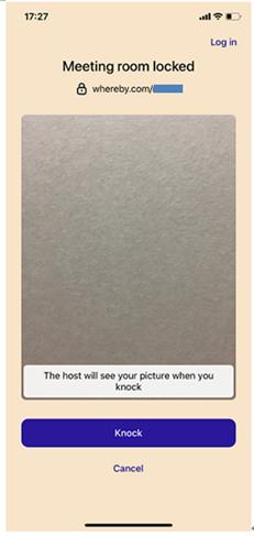オンラインミーティング会場への入室方法(iPhone編)